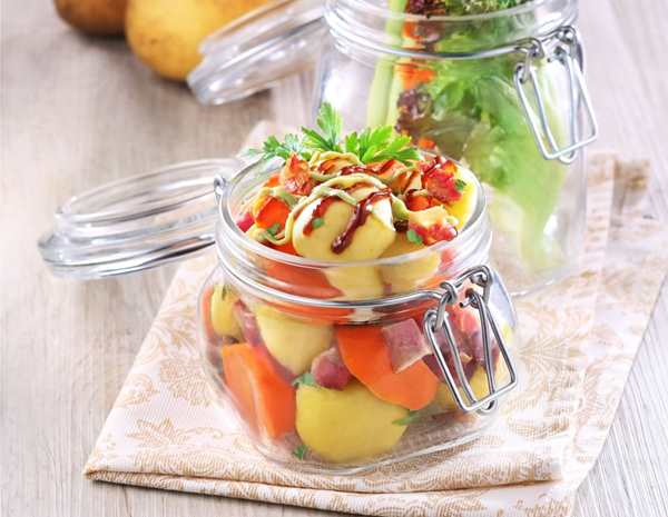 Recipe Potato and Bacon Salad with Avocado Hoisin Dressing