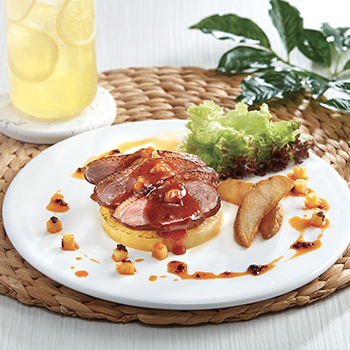Spicy BBQ Duck Breast with Pineapples